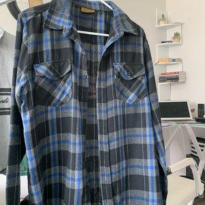 Recess Blue Plaid Flannel